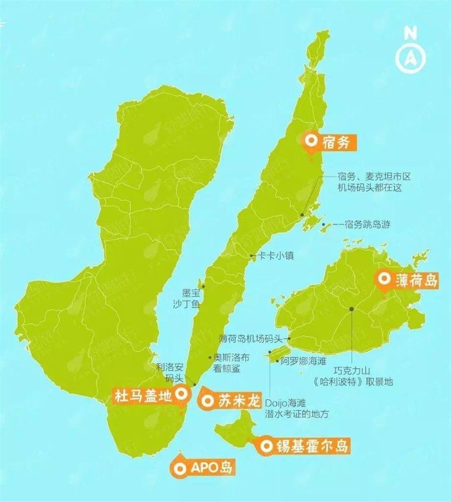 宿雾省地图