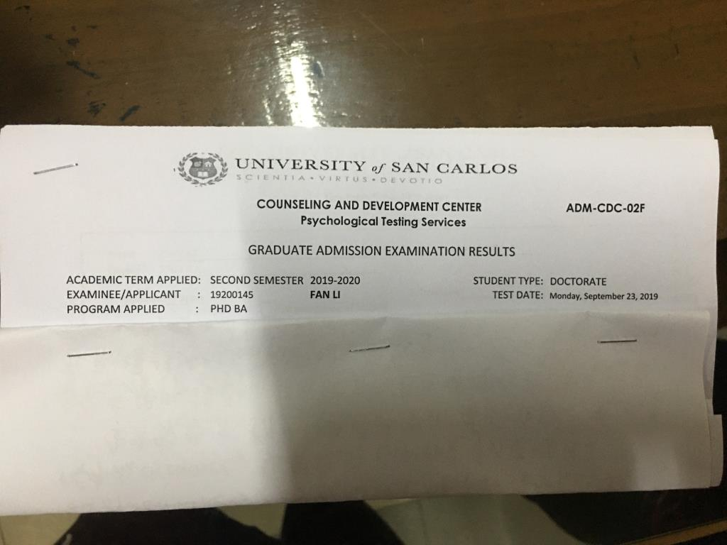 USC入学材料